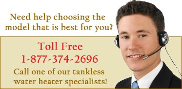 Choose tankless water heater model